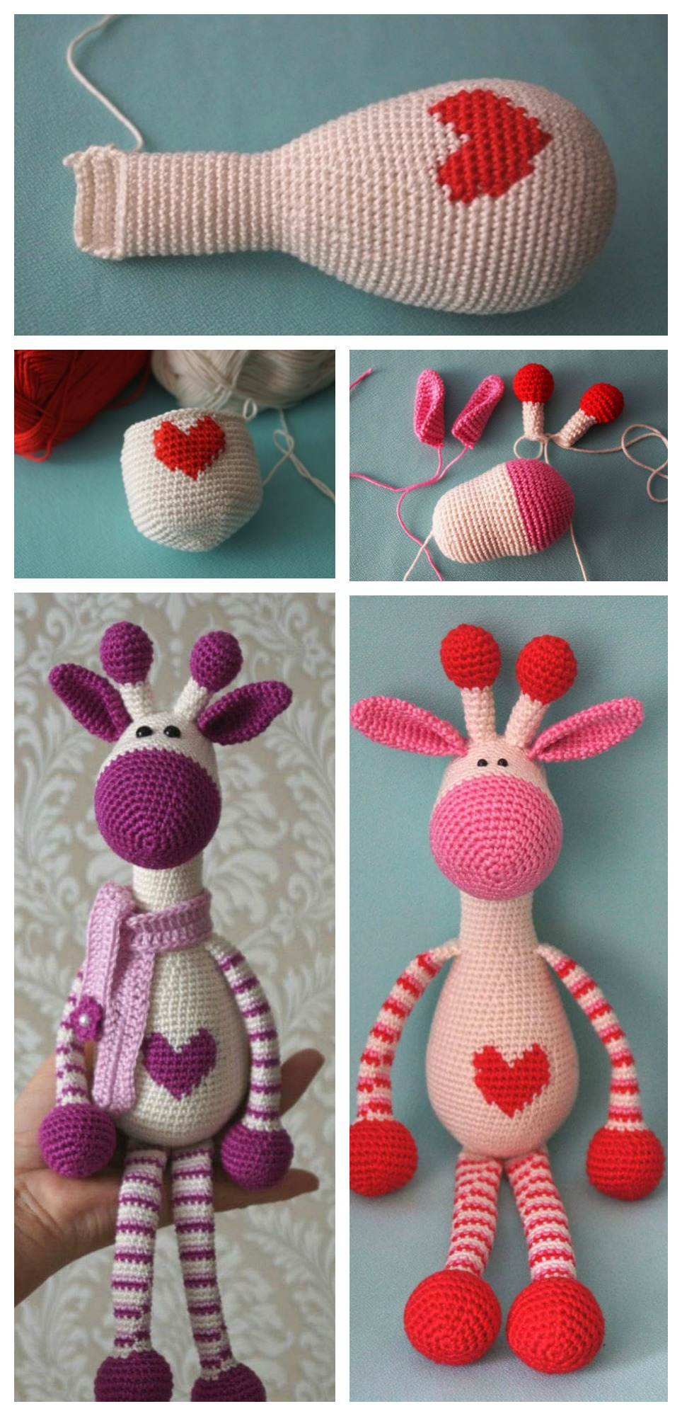Cute Crochet Giraffe Amigurumi Free Pattern - DIY 4 EVER