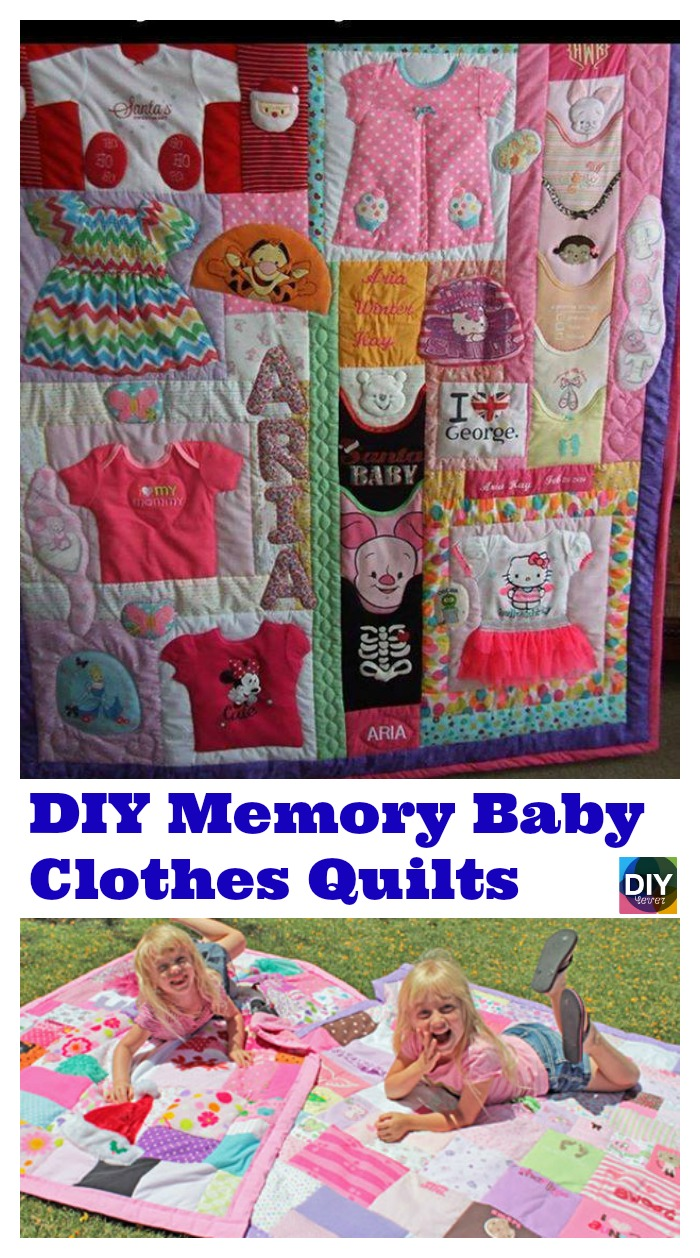 DIY4EVER-DIY Memory Baby Clothes Quilts