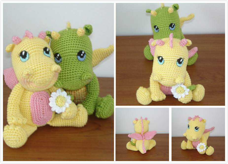 Amigurumi Baby Dragon : The itsy bitsy spider crochet a new baby dragon
