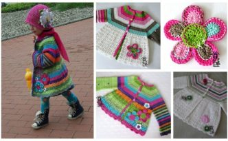 Girls Crochet Flower Cardigan - Free Pattern