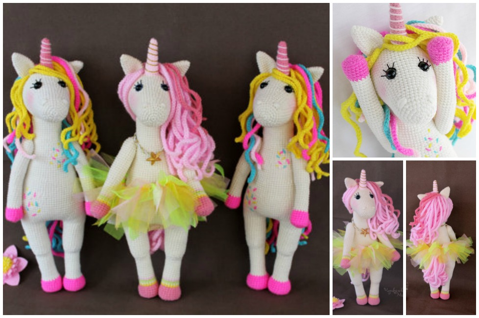 Free Amigurumi Unicorn Pattern : Free knitting patterns toy horse durgapur for