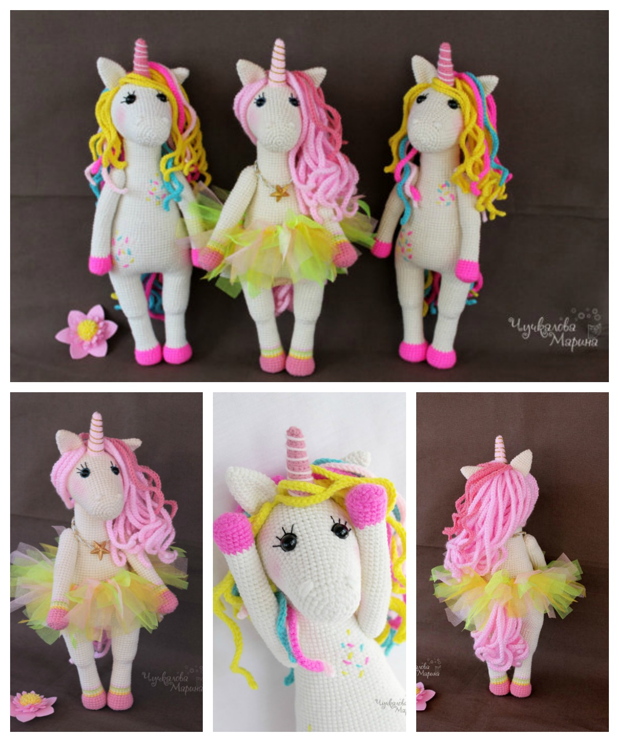 Sweet Crochet Unicorn Toy Pattern