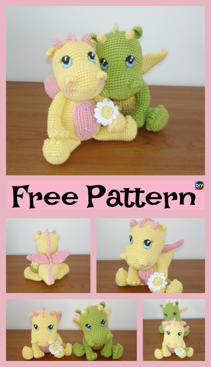 diy4ever- Crochet Baby Dragon – Free Pattern