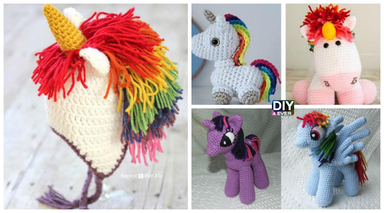 Free Amigurumi Unicorn Pattern : Aurora the rainbow unicorn free crochet pattern