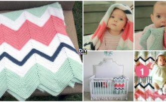 Crochet Chevron Baby Blanket - Free Pattern