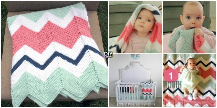 Crochet Chevron Baby Blanket Free Pattern Diy 4 Ever