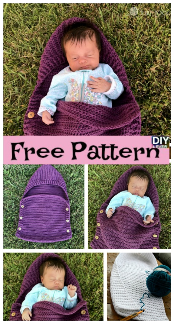 DIY4ever- Crochet Newborn Sleep Sack - Free Pattern