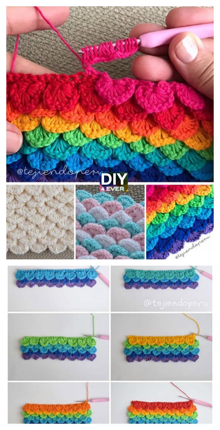 Crochet Sequins Stitch - Free Pattern & Video