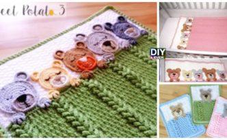 Crochet Sleep Tight Teddy Bear Blanket Free Pattern F 332x205 - Sleep Tight Teddy Bear Blanket - Free Pattern