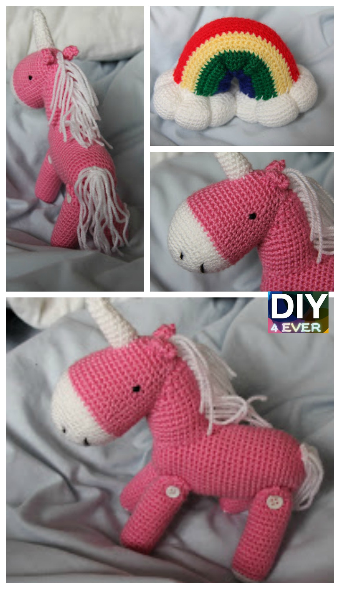 10 Cutest Crochet Unicorn Free Patterns9