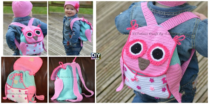 Cute Crochet Owl Backpack Pattern Diy 4 Ever