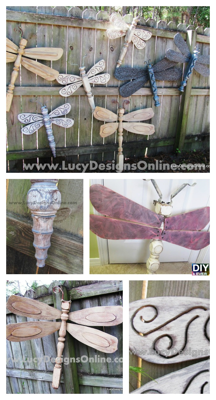 DIY4EVER- DIY Table Leg Dragonflies - Wall Art