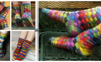 Knitted Rainbow Patch Socks Free Pattern F 332x205 - Rainbow Patch Socks Knitted Free Pattern