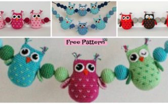 Crochet Owls & Balls Decoration - Free Pattern