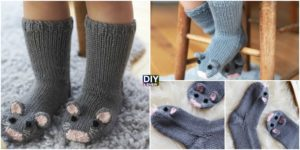 Super Cute Knit Mice Socks - Free Pattern