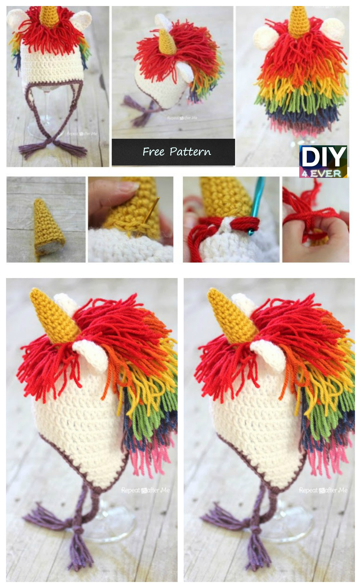 10 Cutest Crochet Unicorn Free Patterns7