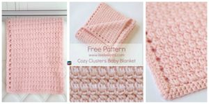 diy4ever-Cozy Clusters Crochet Baby Blanket - Free Pattern