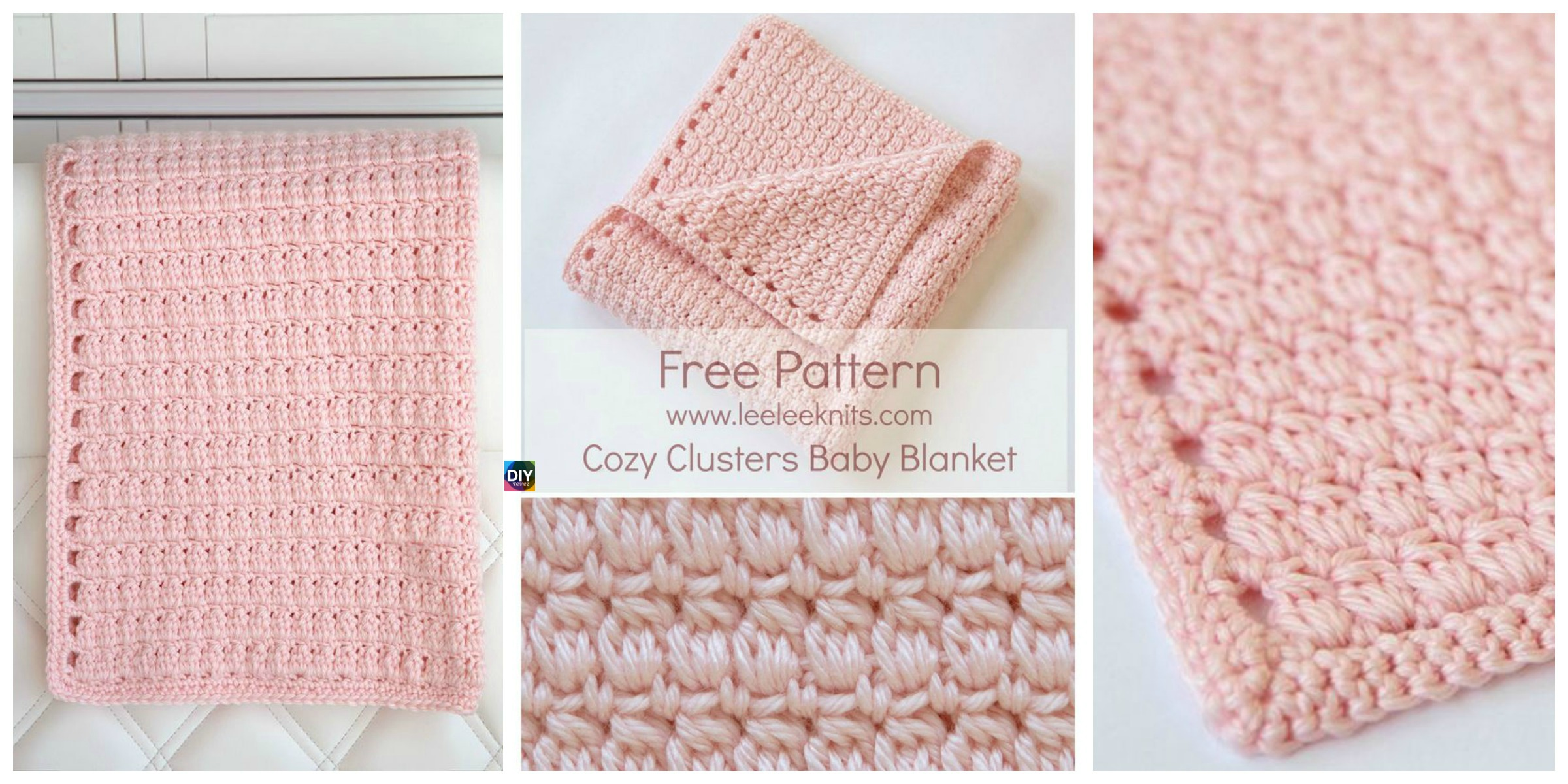 Cozy Clusters Crochet Baby Blanket - Free Pattern - DIY 4 EVER