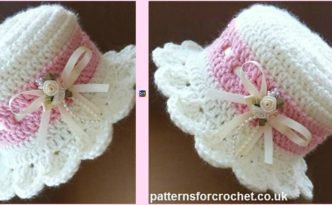 diy4ever- Crochet Brimmed Baby Hat - Free Pattern