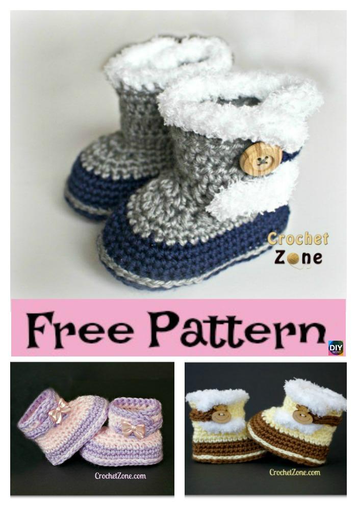 diy4ever- Crochet Fuzzy Booties - Free Pattern