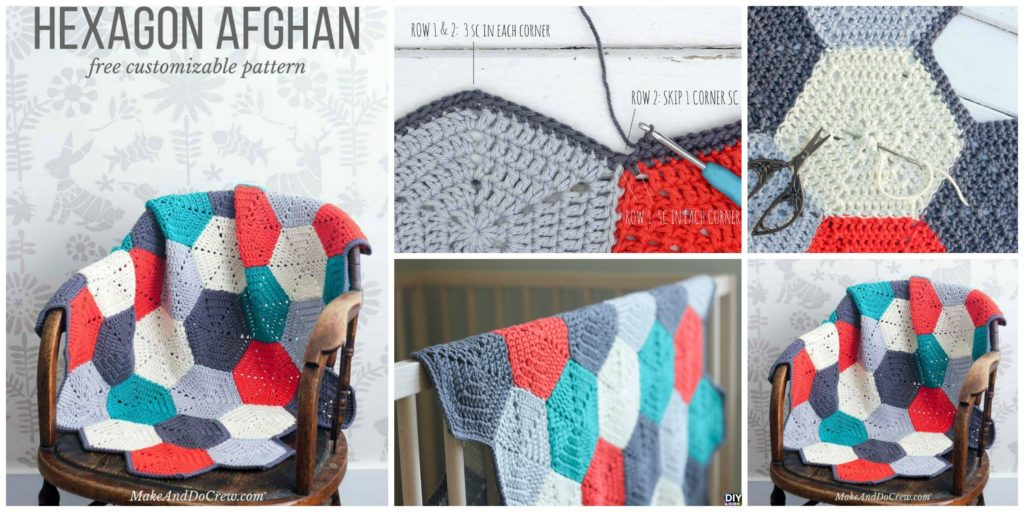 Crochet Hexagon Afghan Free Pattern Diy 4 Ever
