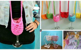 diy4ever- Crochet & Knit Wine Glass Holders- Free Pattern