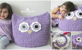 diy4ever- Crochet Oversized Owl Pillow