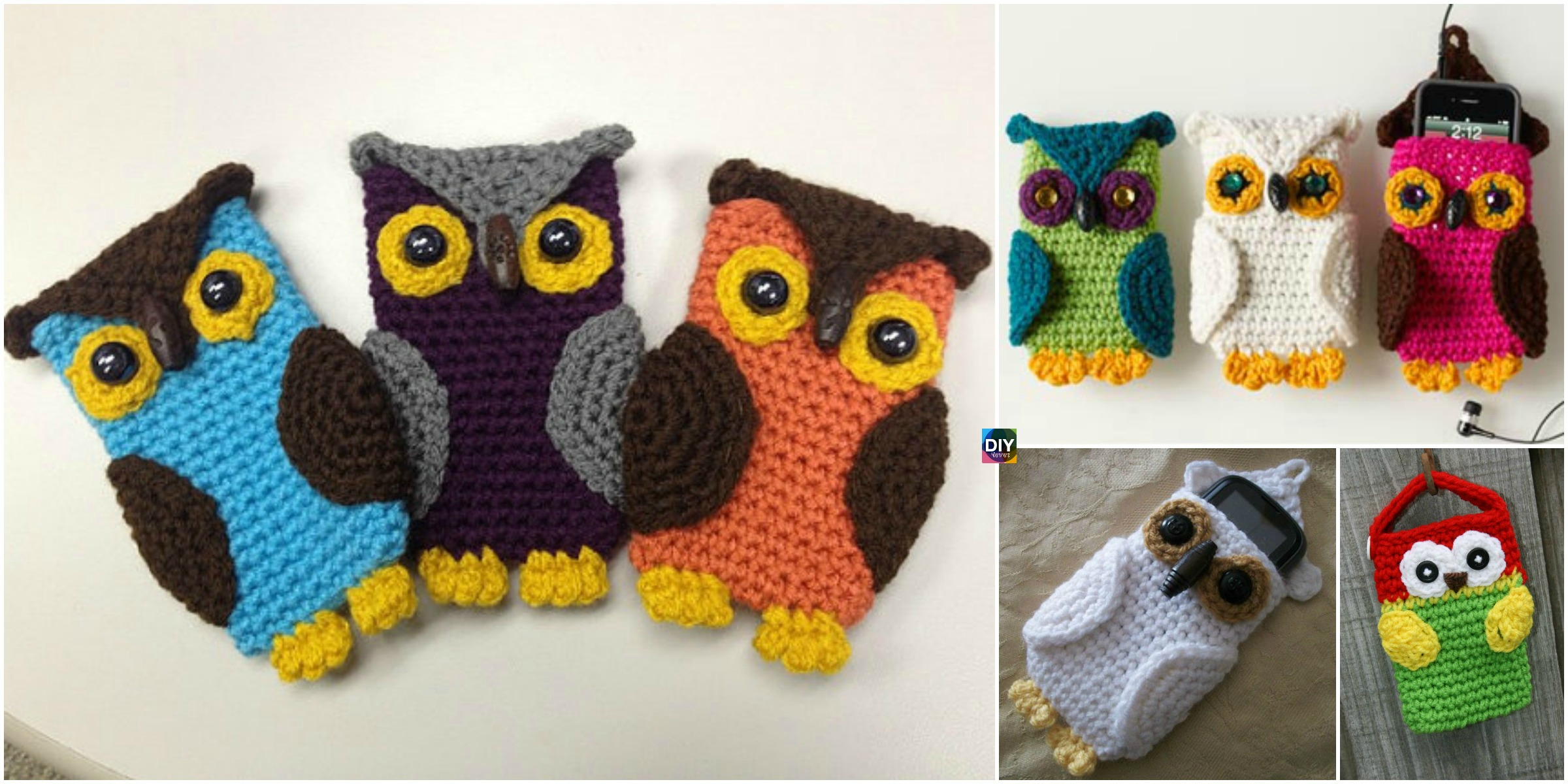 Crochet Owl Cell Phone Cozy -Free Pattern - DIY 4 EVER