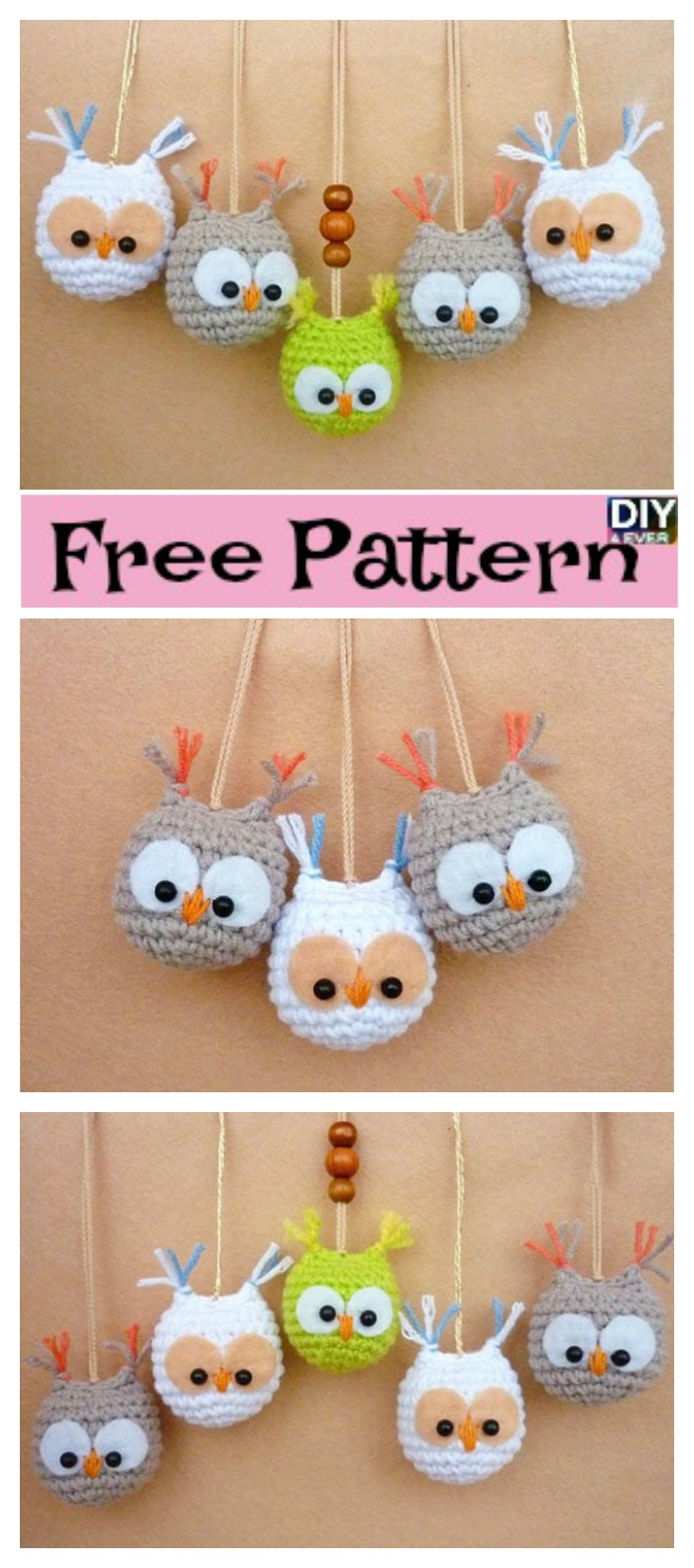 diy4ever- Crochet Owl Keychain - Free Pattern