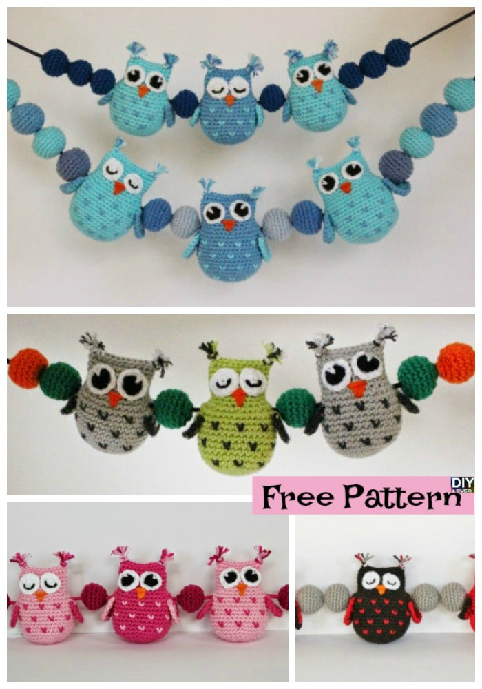 diy4ever-Crochet Owls & Balls Decoration - Free Pattern