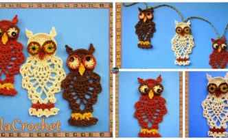 diy4ever- Crochet Pineapple Owl - Free Pattern