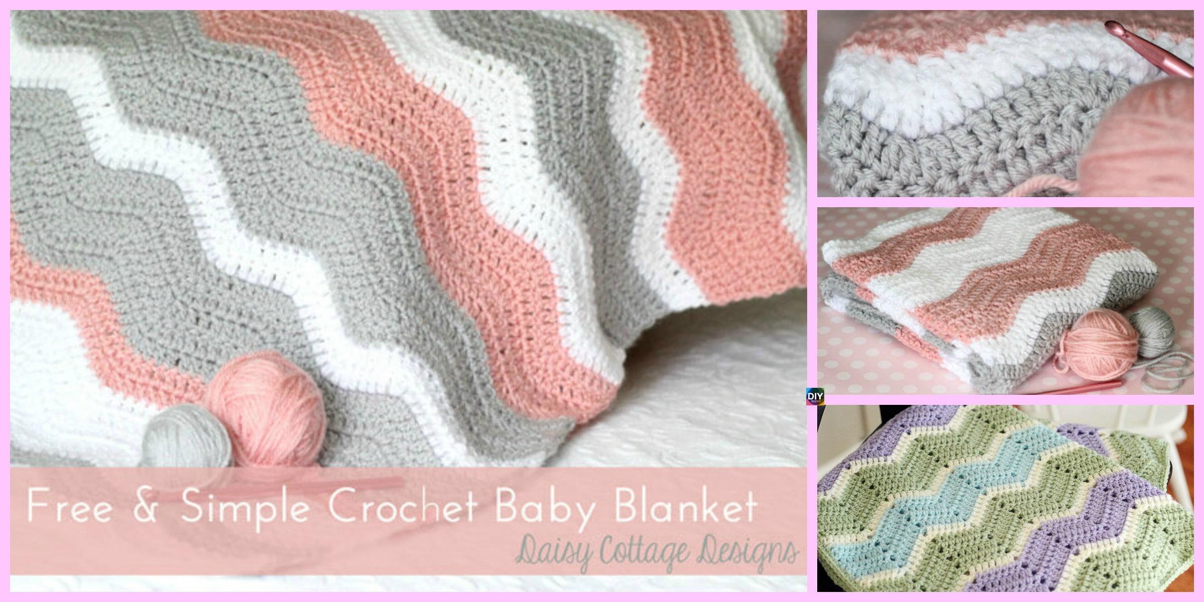 Crochet Ripple Baby Blanket - Free Pattern - DIY 4 EVER