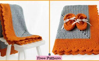 diy4ever- Crochet Starburst Baby Blanket - Free Pattern