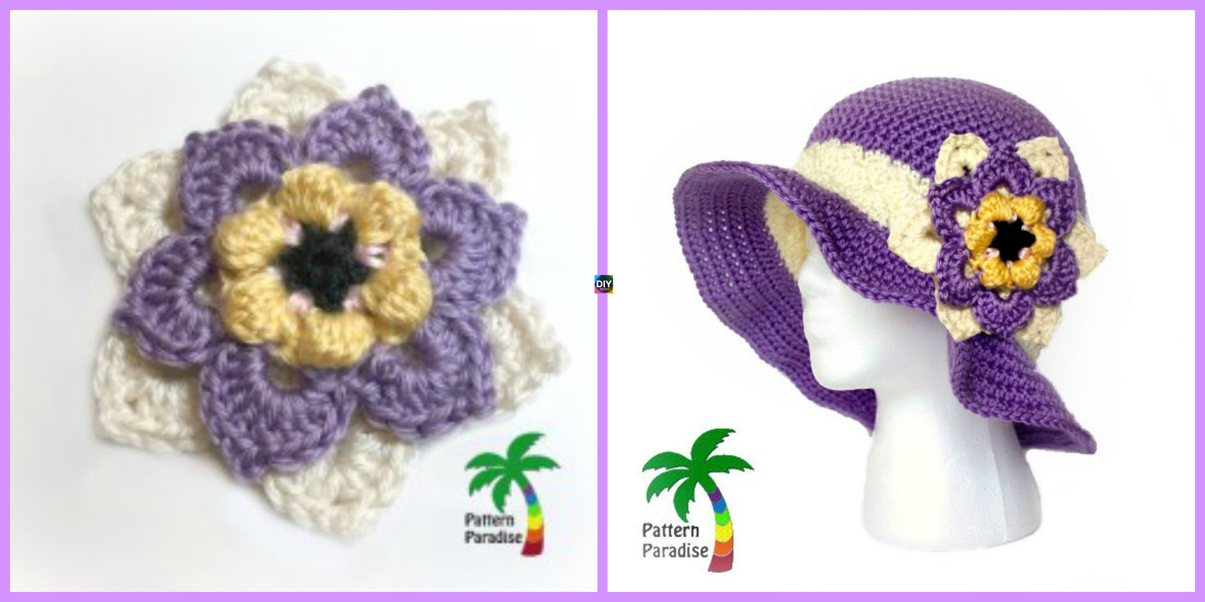 Crochet Summer Joy Sun Hat - Free Pattern - DIY 4 EVER