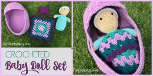 diy4ever-Crocheted Baby Doll Set - Free Pattern & Video