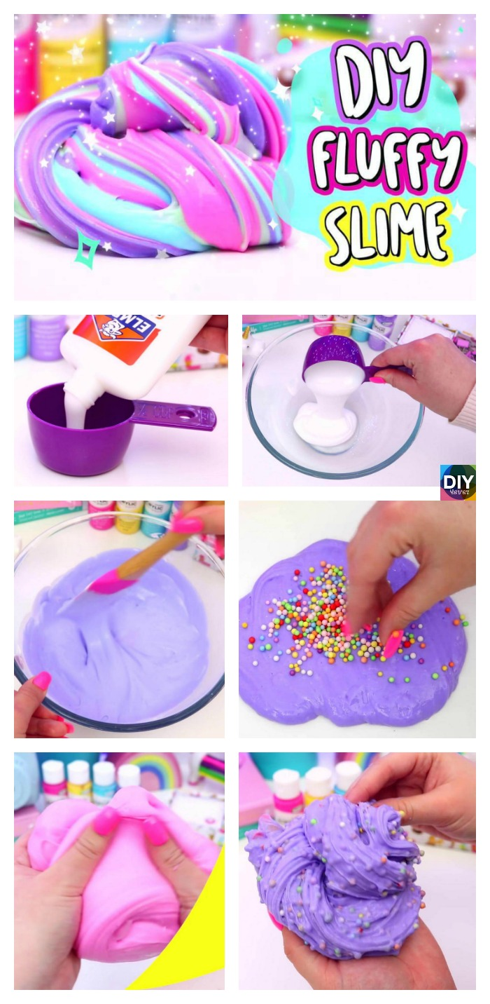 diy4ever- DIY Fluffy Slime Step by Step Tutorial