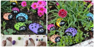 DIY Ladybug Painted Rocks Tutorial