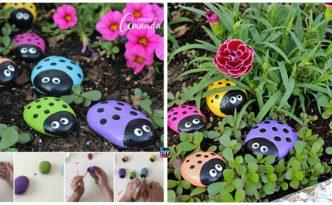 DIY Ladybug Painted Rocks Tutorial