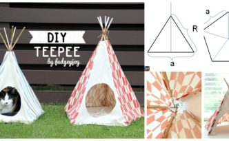 diy4ever- DIY Teepee Tutorial ( with Any Size )