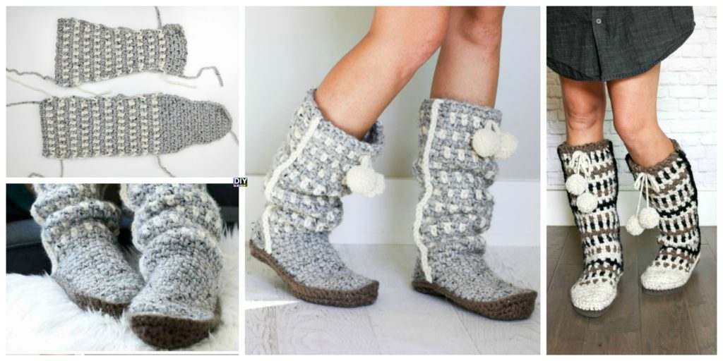 Easy Stylish Crochet Slippers Free Pattern Diy 4 Ever