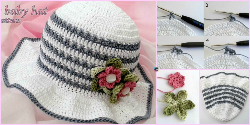 54ee9621887 Fancy Crochet Baby Hat - Free Pattern - DIY 4 EVER