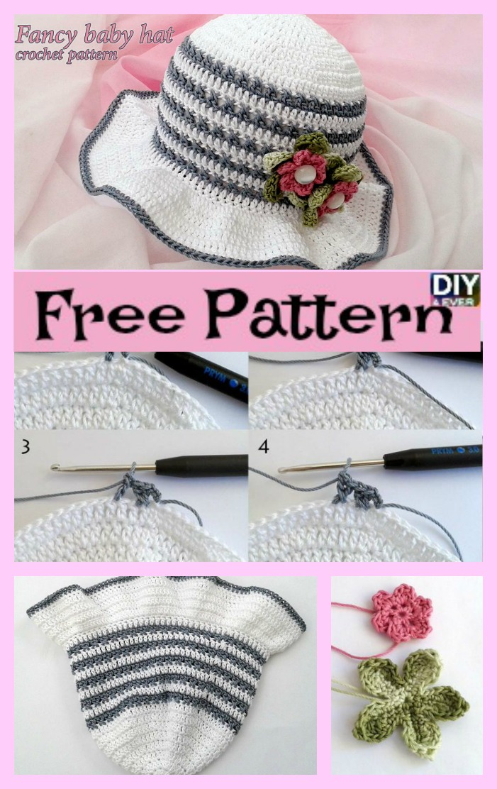 Fancy Crochet Baby Hat Free Pattern Diy 4 Ever