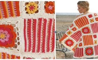 diy4ever- Pretty Crochet Blossom Blanket - Free Pattern