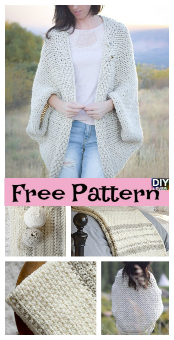 diy4ever-Woven Look Crochet Blanket - Free Patern