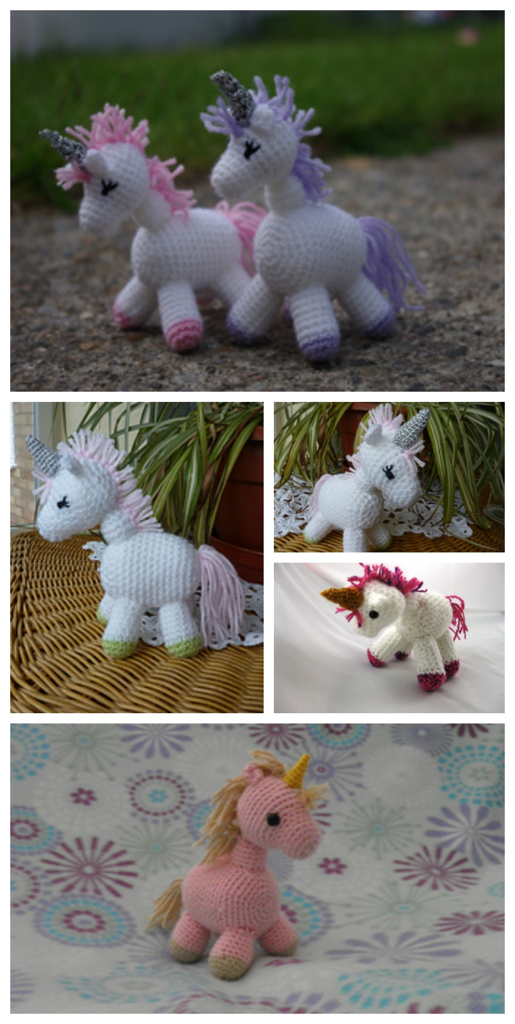 10 Cutest Crochet Unicorn Free Patterns10