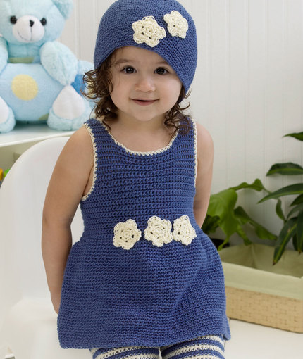 diy4ever-Crochet One-Piece Romper & Hat- Free Pattern