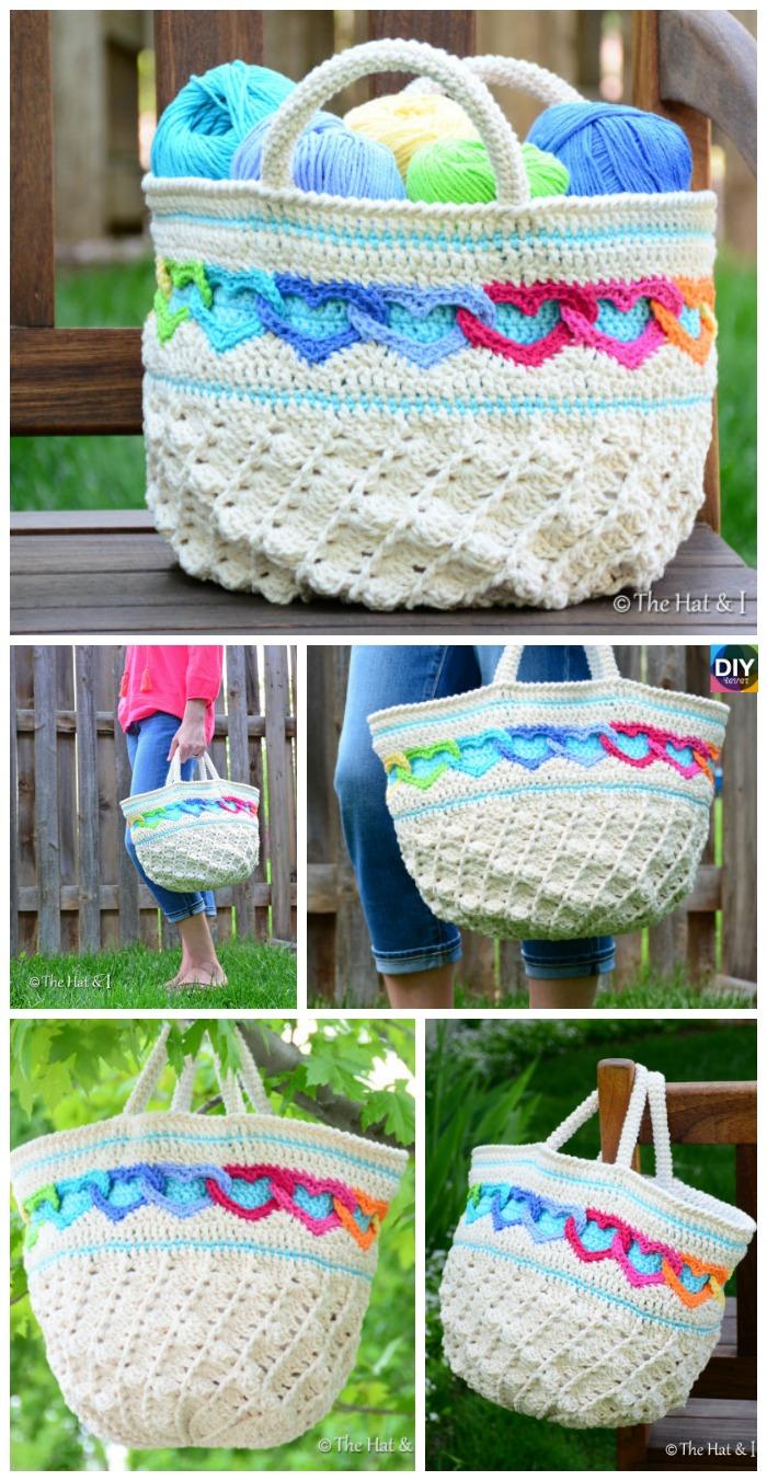 DIY4ever- Crochet Heart Tote Bag Pattern