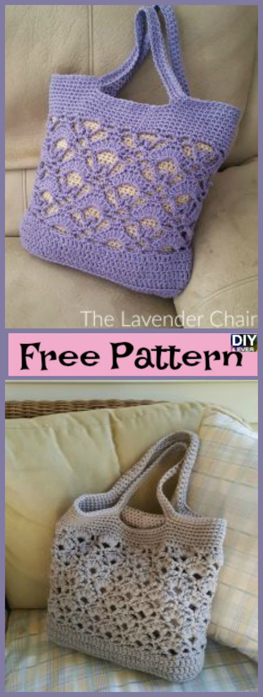 Creative Crochet Tote Bags - Free Pattern - DIY 4 EVER