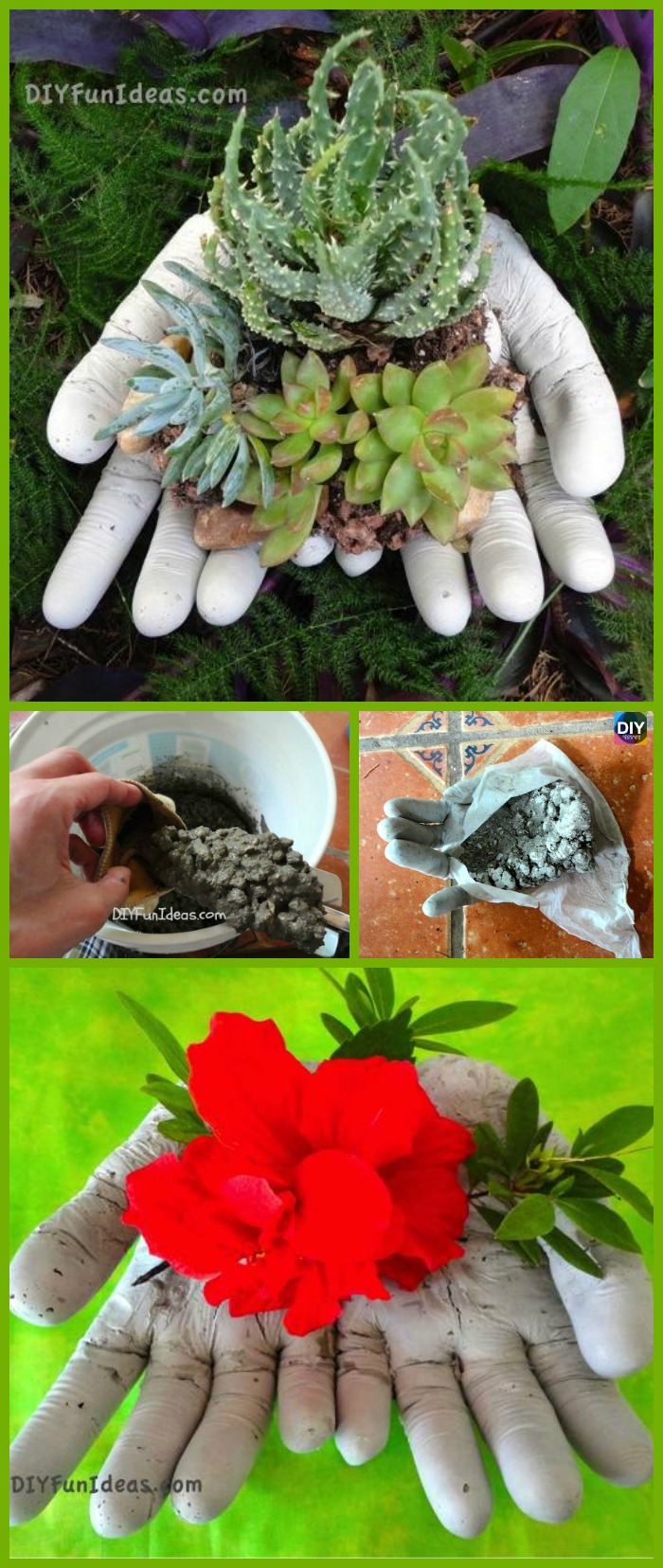 DIY4ever- How to DIY Concrete Hand Planters