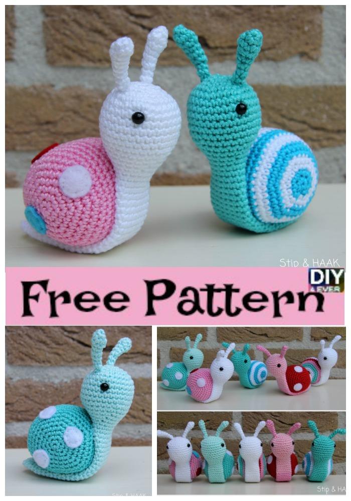 Super Cute Crochet Snails Free Pattern Diy 4 Ever